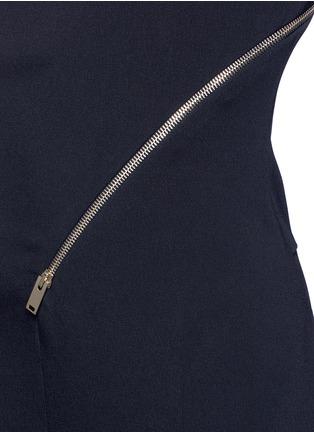 Detail View - Click To Enlarge - Stella McCartney - 'Elisa' one shoulder zip front crepe jumpsuit