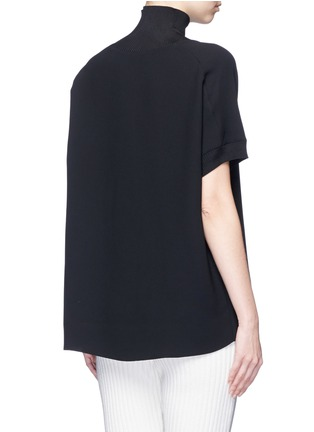 Back View - Click To Enlarge - Vince - Ribbed turtleneck crepe top