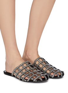 Alexander Wang  'Alison' strass caged suede slides