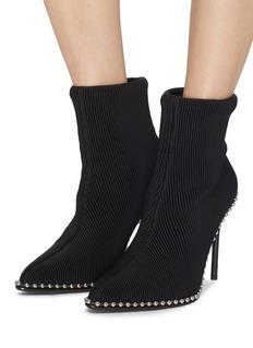 Alexander Wang  'Eri' ball chain trim sock knit ankle boots