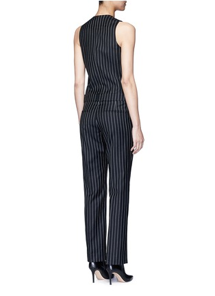 Back View - Click To Enlarge - Givenchy - Pinstripe wool jumpsuit