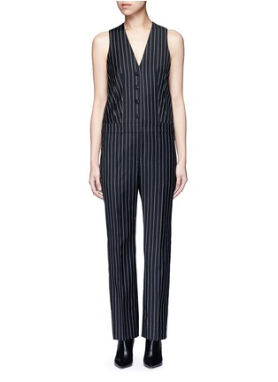 Main View - Click To Enlarge - Givenchy - Pinstripe wool jumpsuit