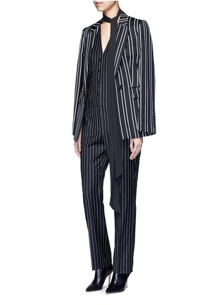 Figure View - Click To Enlarge - Givenchy - Pinstripe wool jumpsuit