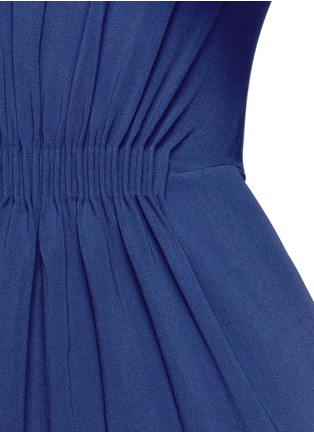 Detail View - Click To Enlarge - Stella McCartney - Ruched waist 3/4 sleeve gown