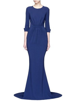 Main View - Click To Enlarge - Stella McCartney - Ruched waist 3/4 sleeve gown