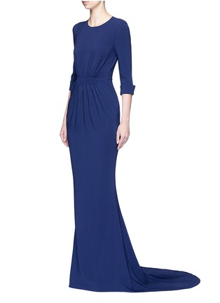 Figure View - Click To Enlarge - Stella McCartney - Ruched waist 3/4 sleeve gown
