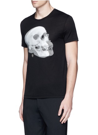 Front View - Click To Enlarge - Alexander McQueen - Optic skull print jersey T-shirt