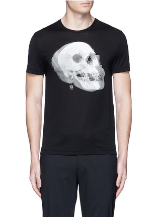 Main View - Click To Enlarge - Alexander McQueen - Optic skull print jersey T-shirt