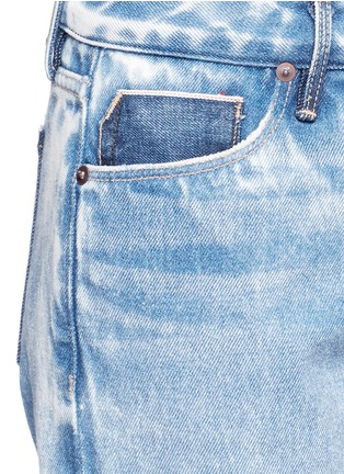 Detail View - Click To Enlarge - Tortoise Denim - Distressed washed slim bootcut jeans