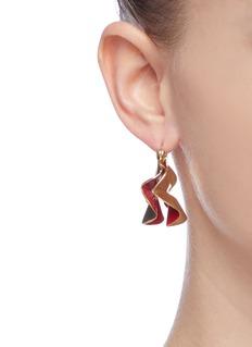 Ellery 'Flourish' small ruffle hoop drop earrings