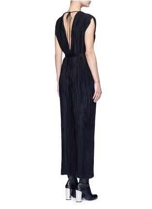 Back View - Click To Enlarge - Tome - Pleated V-neck jumpsuit