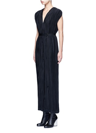 Front View - Click To Enlarge - Tome - Pleated V-neck jumpsuit