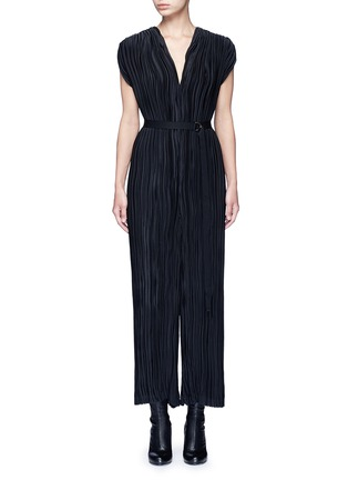 Main View - Click To Enlarge - Tome - Pleated V-neck jumpsuit