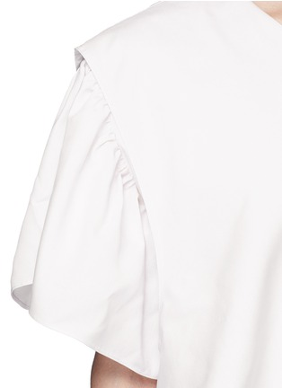 Detail View - Click To Enlarge - Tome - Ruffle silk poplin one-shoulder dress