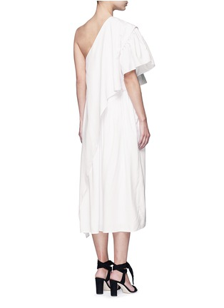 Back View - Click To Enlarge - Tome - Ruffle silk poplin one-shoulder dress