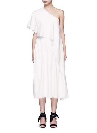 Main View - Click To Enlarge - Tome - Ruffle silk poplin one-shoulder dress