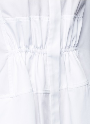Detail View - Click To Enlarge - Tome - Plissé pleated back gathered waist dress