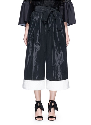 Main View - Click To Enlarge - Tome - Taffeta belted karate pants