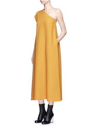 Figure View - Click To Enlarge - TOME - One-shoulder crepe dress