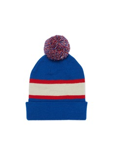 Isabel Marant 'Halden' pompom colourblock wool knit beanie