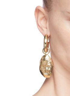 Ellery 'Ossip' detachable sculpture face drop earrings