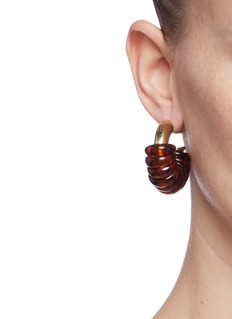 Ellery 'Gertrude Jumpring' hoop earrings