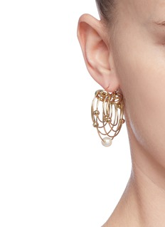 Ellery 'Classical Scaffolding' baroque pearl hoop earrings
