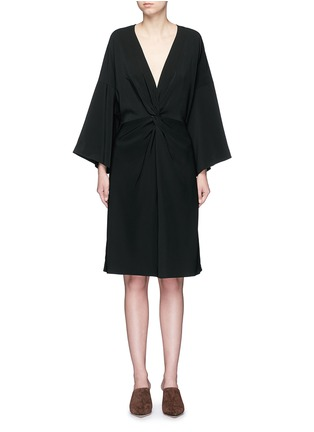 Main View - Click To Enlarge - Rosetta Getty - Twist knot front kimono dress
