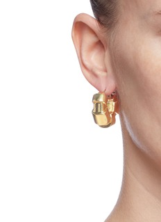 Ellery 'Futile Cubism' sculptural hoop earrings