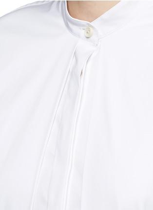 Detail View - Click To Enlarge - ROSETTA GETTY - Split front cotton blend poplin long shirt