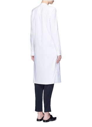 Back View - Click To Enlarge - Rosetta Getty - Split front cotton blend poplin long shirt