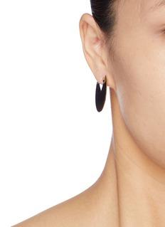 Isabel Marant 'Half Glossy' small cutout disc drop earrings
