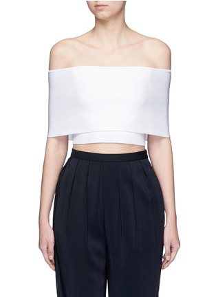 Main View - Click To Enlarge - Rosetta Getty - Rib knit off-shoulder cropped top
