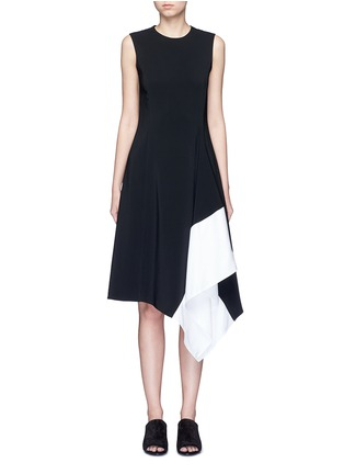 Main View - Click To Enlarge - Rosetta Getty - Asymmetric godet hem dress