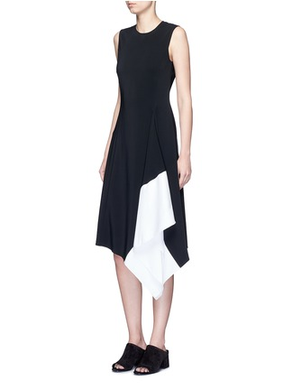 Figure View - Click To Enlarge - Rosetta Getty - Asymmetric godet hem dress