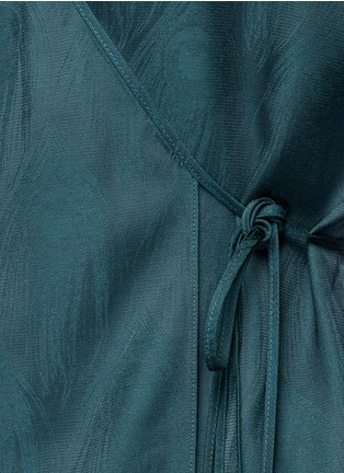 Detail View - Click To Enlarge - ROSETTA GETTY - Cutout sleeve kimono wrap top