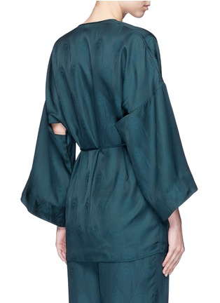 Back View - Click To Enlarge - Rosetta Getty - Cutout sleeve kimono wrap top