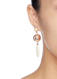 Isabel Marant Small ball stud wood drop earrings