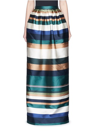 Main View - Click To Enlarge - ROSETTA GETTY - Stripe silk blend satin maxi skirt