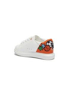 WiNK 'Popcorn' ball patch colourblock leather kid sneakers