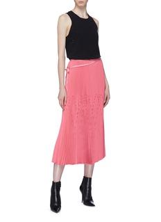 TRE by Natalie Ratabesi Geometric pleated skirt