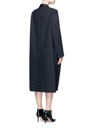 Back View - Click To Enlarge - Balenciaga - Shawl lapel virgin wool coat
