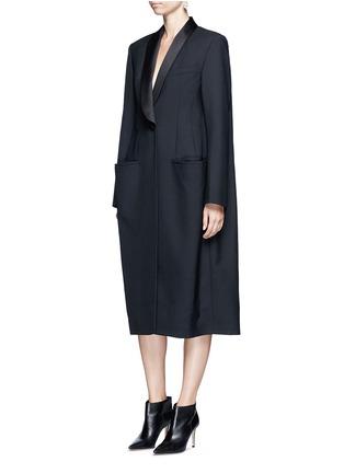 Figure View - Click To Enlarge - Balenciaga - Shawl lapel virgin wool coat