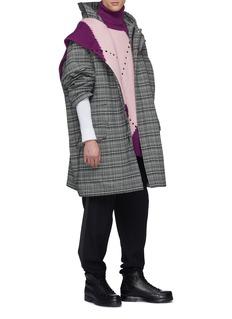 Raf Simons Colourblock panel virgin wool rib knit vest
