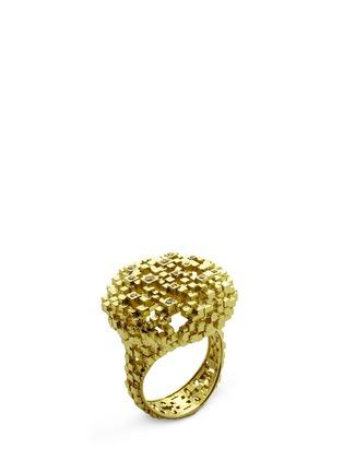 Main View - Click To Enlarge - Jo Hayes Ward - 'Diamond Cushion' 18k yellow gold structural ring