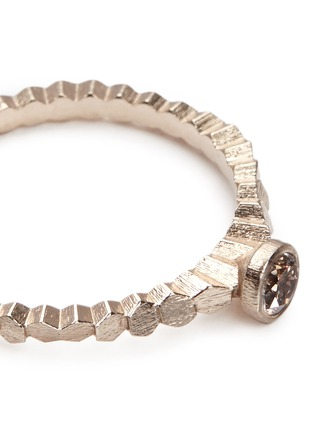 Detail View - Click To Enlarge - Jo Hayes Ward - 'Single Hex' rose cut diamond 18k white gold ring