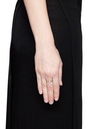 Figure View - Click To Enlarge - Jo Hayes Ward - 'Single Hex' rose cut diamond 18k white gold ring
