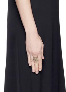 Jo Hayes Ward 'Button 2' diamond 18k white gold ring