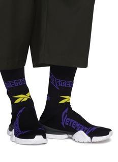 Vetements x Reebok 'Metal' sock knit high top sneakers