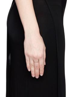 Jo Hayes Ward 'Single Hex' diamond 18k white gold ring